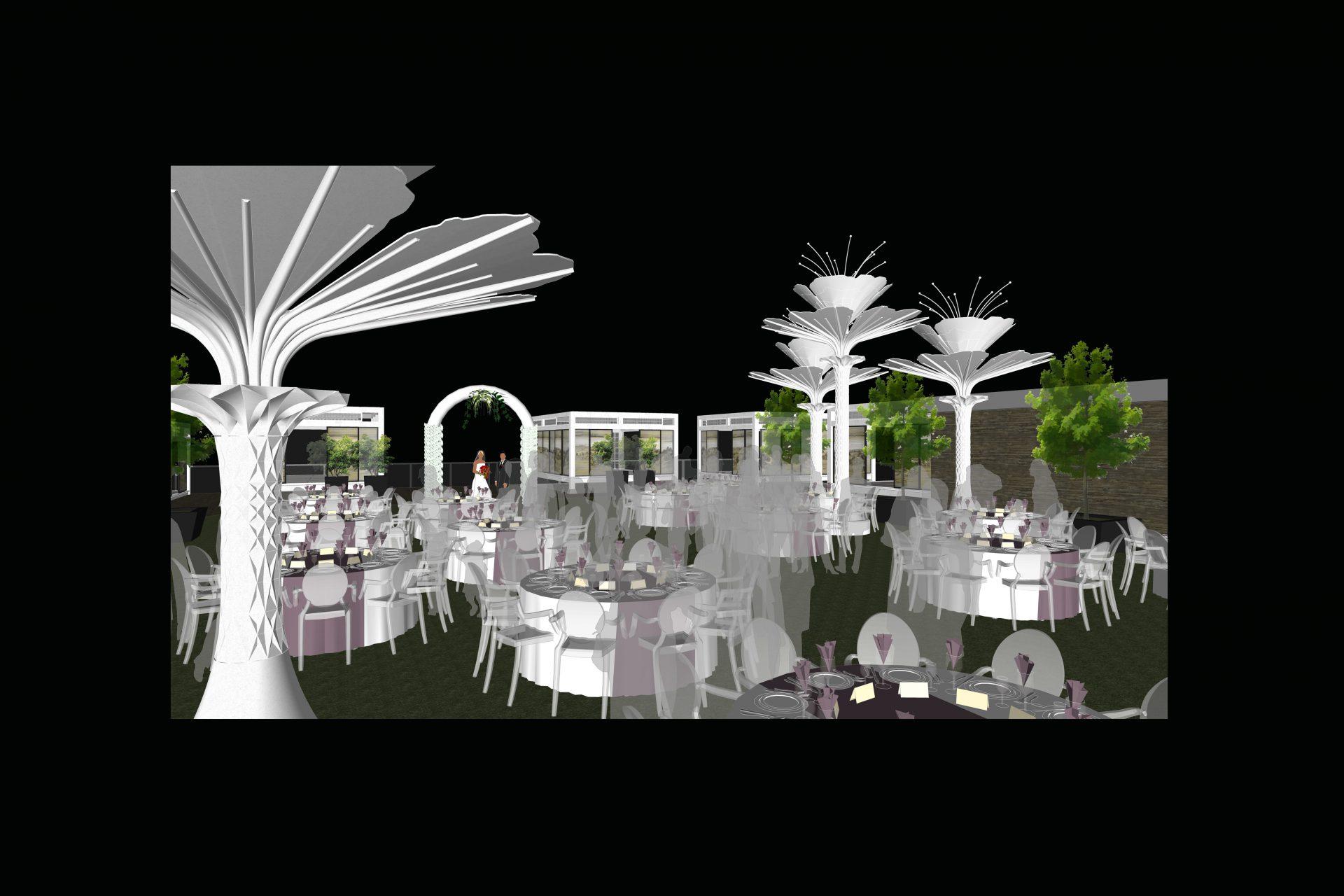 Ứng dụng cây U-TREE tại tiệc cưới